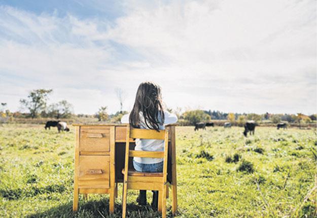 Selon l'UPA, il importe d'inculquer des notions d'agriculture aux élèves afin qu'ils investissent plus tard dans l'économie locale. Photo : Gracieuseté du Conseil du statut de la femme