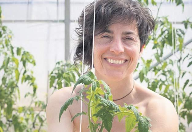 Anne-Marie Courtemanche, qui travaille aux Potagers des nues mains, se prêtait au jeu pour une deuxième année