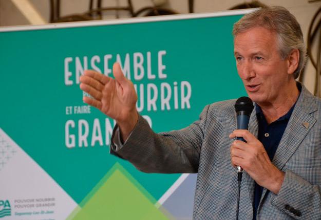 Le ministre de l'Agriculture, des Pêcheries et de l'Alimentation, André Lamontagne.