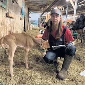 Le producteur laitier Fred Saint-Jean a dû se contenter d'un premier versement de 1100 $. Photo : gracieuseté de Fred Saint-Jean