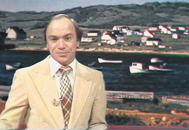 Yvon Leblanc en était à sa deuxième année d'animation de La semaine verte en 1979. Photo : Radio-Canada