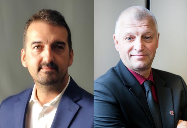 Jean-Thomas Maltais (à gauche) succède à Claude Viel à la présidence des Producteurs de bovins du Québec. Crédit photo : Gracieuseté des PBQ/ArchivesTCN