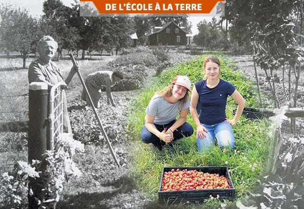 La forte représentation des femmes dans le secteur agricole transforme le métier et l'ensemble des valeurs portées par la relève. Photo : Alain Blanchette et Maya Boivin Lalonde, Rencontres exploratoires, Accès Bioterre, 2019