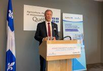 La Stratégie nationale d'achat d'aliments québécois pourrait rapporter 180 M$ supplémentaires au secteur agricole d'ici 2025. Crédit : Cabinet du ministre Lamontagne