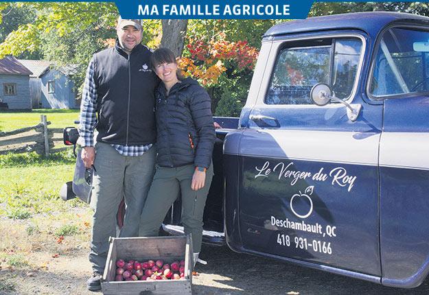 Il y a trois ans, Danielle Voyer est devenue propriétaire du Verger du Roy, dont elle s'occupe en compagnie de son conjoint Martin Brière. Photos : Emilie Nault-Simard