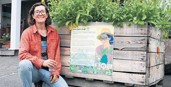 Anne-Sophie Tardif s'est jointe à d'autres mordus d'agriculture pour former la Coopérative de solidarité des Jardins du Pied de céleri. Ils sont ainsi plus nombreux à se partager les lourdes exigences du métier,  ce qui leur permet d'y prendre plus de plaisir.