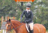 Plusieurs gestes permettent de protéger le dos du cheval, sans causer de douleurs à l'animal par la pratique de l'équitation. Photo : Gracieuseté de Charlotte Sabourin
