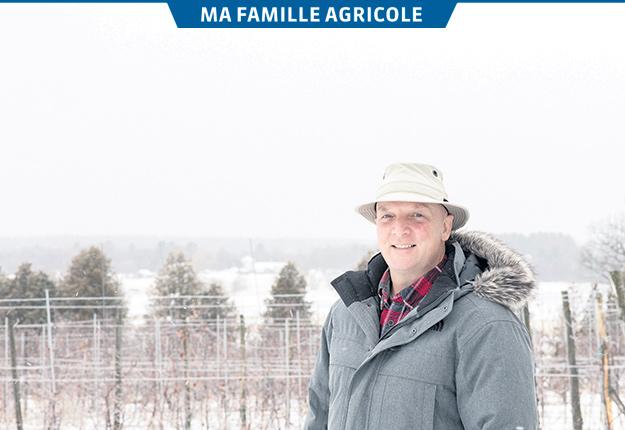 Hubert Philion représente la cinquième génération de pomiculteurs dans sa famille. Photo : Judy Bondesen