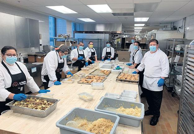 Les dons en produits servent à cuisiner des repas. Photo : Gracieuseté de l'UPA
