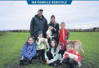 Steven Beerwort et Myriam Grenon accompagnés de leurs enfants Zoe (12 ans), Naomi (3 ans et demi), Amanda (10 ans), Jayden (8 ans) et Megan (5 ans et demi). Photos: David Riendeau