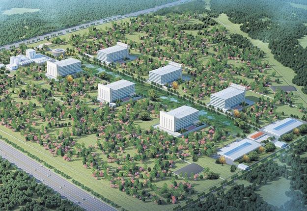 À terme, le projet de l'entreprise chinoise Tianzow comptera six bâtiments étagés qui abriteront au total 40 000 truies.