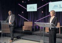 Le contrat social pour l'autonomie alimentaire du Québec a été dévoilé le 1erdécembre par la productrice Sophie Gendron et le citoyen Raoul Pascal. Photo : UPA