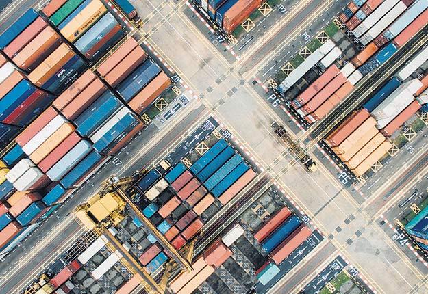 Les conteneurs ont été nombreux à quitter le pays en 2020. Photo : Groupe Export agroalimentaire Québec–Canada