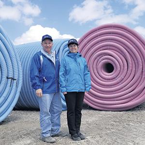 Tony et Bonnie Kime, actionnaires minoritaires de Bluewater Pipe.