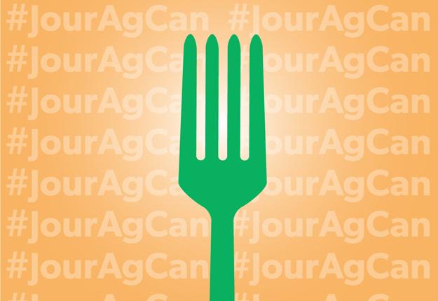 La population est invitée à montrer leur appui aux agriculteurs en levant sa fourchette à l'occasion du Jour de l'agriculture canadienne. Image : L'agriculture plus que jamais