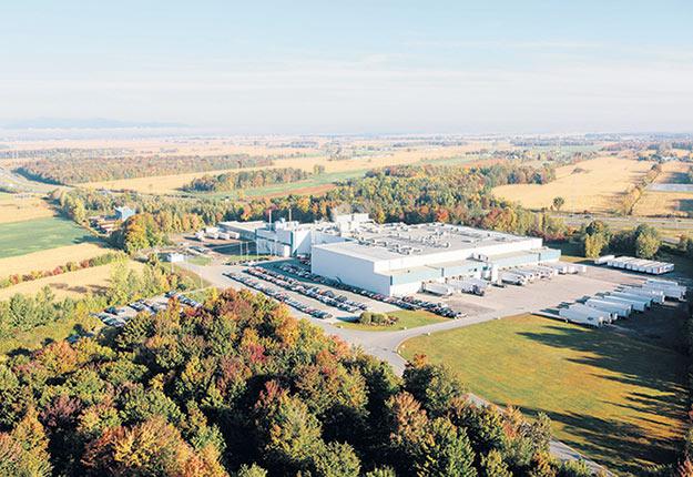 L'ancienne usine d'abattage F. Ménard  d'Ange-Gardien, maintenant propriété d'Olymel. Photo : Gracieuseté d'Olymel