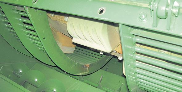Système de battage d'une batteuse de type axial.