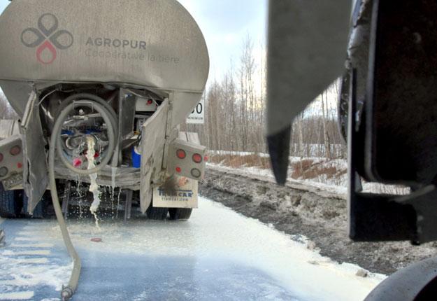 L'accident est survenu sur la route 55 Nord, à Drummondville. Photos : Éric Beaupré/Vingt55
