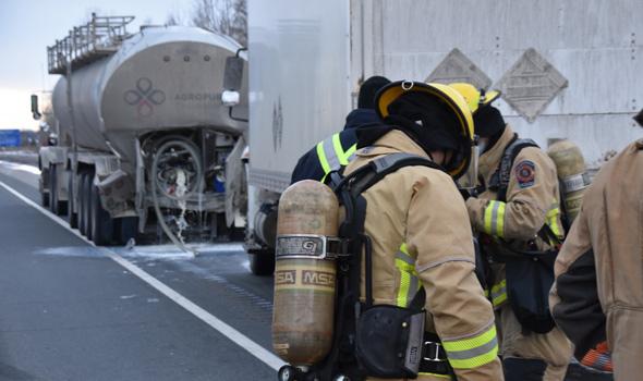 Les pompiers ont été dépêchés sur les lieux.