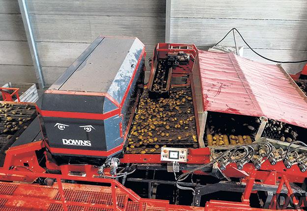 À l'heure actuelle, le modèle grande capacité de la trieuse, d'une largeur de 2,8m, pourrait traiter 100tonnes d'intrants à l'heure et se détaillerait à 150000euros (environ 225000$ CA). Photos: Gracieuseté de Dubrulle-Downs