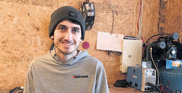 Benjamin Brunet-Duclos s'est acheté une maison dans le village de Latulipe l'été dernier.