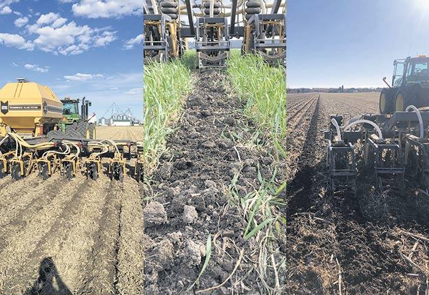 Le strip-till permet au producteur de grandes cultures Mike Verdonck, qui utilise le Soil Warrior, de travailler des sols couverts de plantes ou de résidus, en plus de cibler l'épandage de fertilisant. Photos: Gracieuseté de Mike Verdonck
