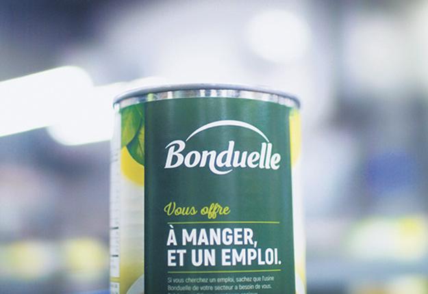 Bonduelle fait preuve d'originalité avec sa nouvelle campagne de recrutement. Photo : Gracieuseté de Bonduelle
