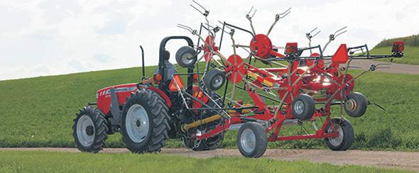 La plupart des modèles de la sérieTD sont munis d'un système de repliage hydraulique horizontal ou vertical.