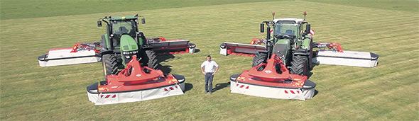 Les GMD10030 sont équipés d'unités de fauche à relevage indépendant. Kuhn offre également plusieurs autres modèles, dont le GMD355, conçu pour ceux qui cherchent un équilibre entre performance et durabilité.