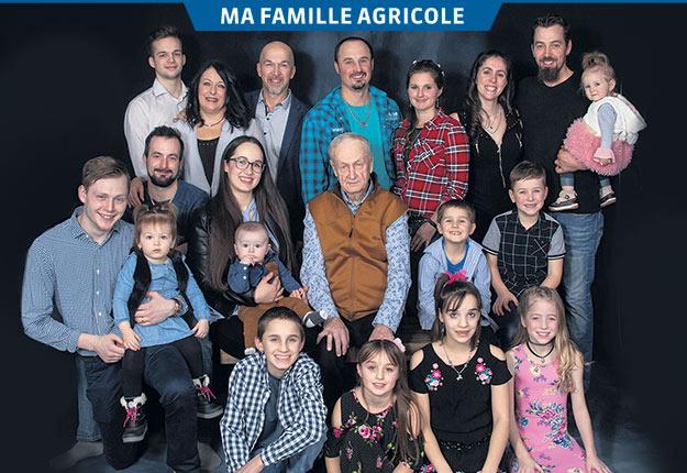Chez les Perron, toute la famille s'implique dans le succès de l'entreprise. Photo : BG Photographie