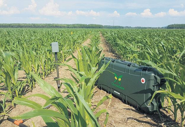 Fabriquée à Montréal, la sonde de Chrysalabs envoie les données recueillies sur une plateforme infonuagique accessible depuis un ordinateur ou un téléphone intelligent. Photo : Gracieuseté de Chrysalabs