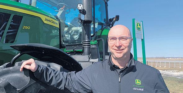 Bruno Bouchard mentionne que les généreuses subventions de Donald Trump aux agriculteurs avant les dernières élections ont propulsé l'achat de tracteurs par les Américains. Photo : Gracieuseté de Bruno Bouchard