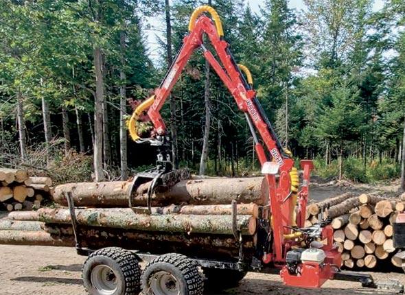 Chargeuse HD-90 - Conçue pour les VTT, la chargeuse HD-90 peut être équipée d'un treuil d'une capacité de 4 000 lb (1 814 kg).