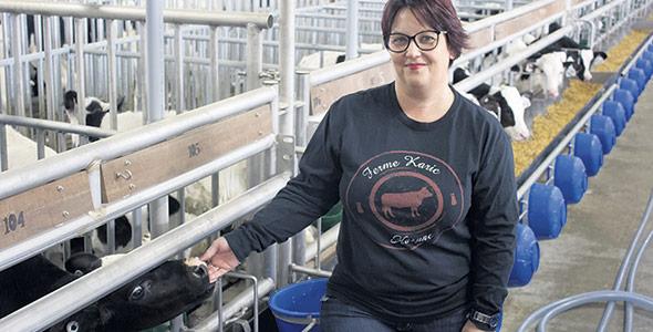 Karine Messier-Lambert considère l'agriculture comme le défi d'une vie.
