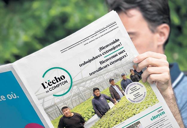 L'Écho de Compton a consacré une édition aux travailleurs étrangers et a traduit certains de ses articles en espagnol. Photo : Gracieuseté de L'Écho de Compton