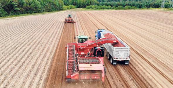 La technologie GreenTronics permet d'assurer la traçabilité du champ à l'entrepôt.