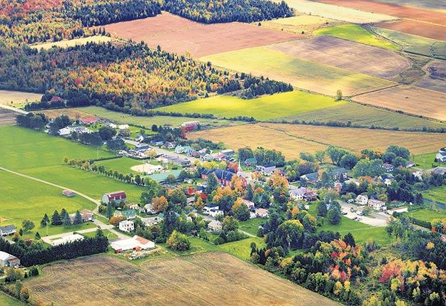 Saint-Camille fait partie des 12 municipalités choisies pour élaborer un plan de développement de communauté nourricière. Photo : Sylvain Laroche