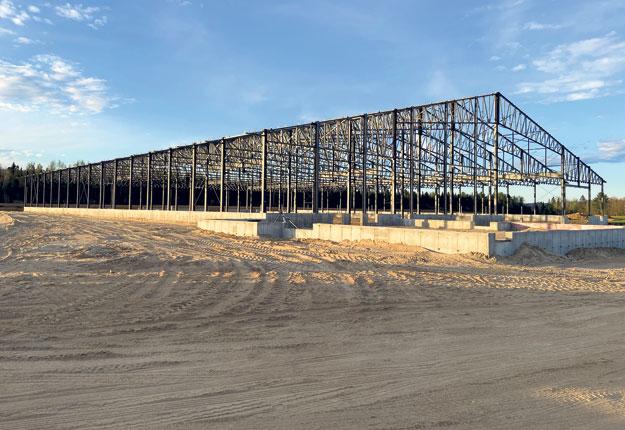 Les structures d'acier ont la cote pour les bâtiments de grande envergure. Photo : Gracieuseté de Structure d'acier Turgeon