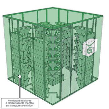 Le VégéCube est modulable selon les besoins et permet  de cultiver différentes variétés de plants.