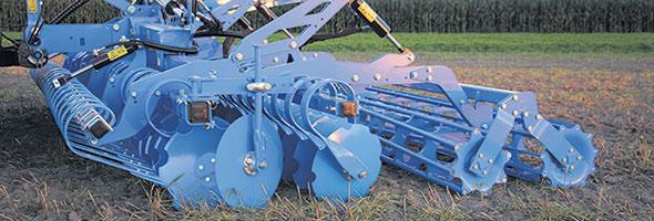 Le déchaumeur compact à double train de disques Heliodor s'utilise tant pour le déchaumage superficiel sur sols légers et moyens que pour la préparation du lit de semences ou après le labour.