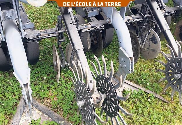 Avec sa dent robuste munie d'un soc en V, le sarcleur lourd est adapté à toutes les conditions. Photo : Institut de technologie agroalimentaire du Québec