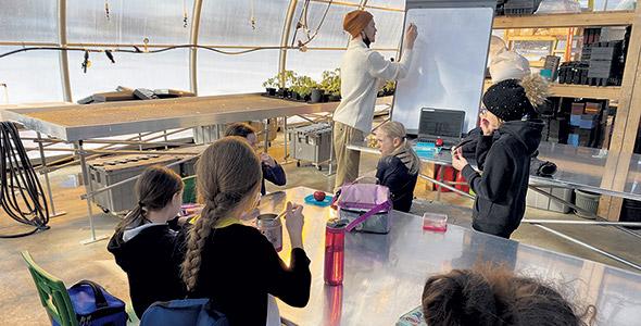 L'école Louis-de-France, de Trois-Rivières, a aménagé une classe extérieure. Photo : Gracieuseté de Julia Grenier