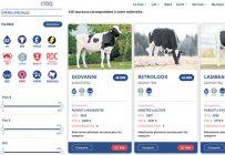 La boutique en ligne permet aux producteurs laitiers et de bovins de boucherie de choisir le type de taureau pour la production de semence qui convient à leur élevage en sélectionnant les critères souhaités.