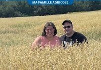 Jade Cazelais et Christian Leclerc ont tous les deux grandi dans une famille où oncles et grands-pères étaient agriculteurs. Photos : Gracieuseté de la Ferme JCL Abitibi