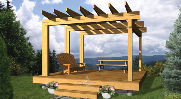 plan de pergola la terre de chez nous. Black Bedroom Furniture Sets. Home Design Ideas