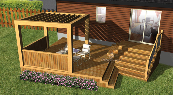 plan de terrasse en bois la terre de chez nous. Black Bedroom Furniture Sets. Home Design Ideas